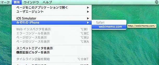 Safari>開発>
